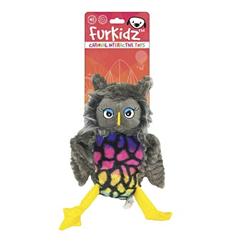 Furkidz Carnival Owl with Action Wings Dog Toy 30cm