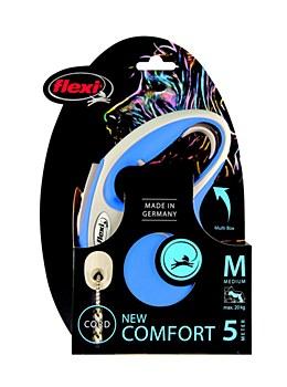 Flexi Comfort Cord Dog Lead Retractable Medium 5m Blue