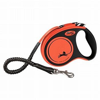 Flexi Xtreme Tape Dog Lead Retractable Small 5m Black & Orange
