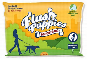 Flush Puppies Dog Waste Bags Flushable (20 Bags)
