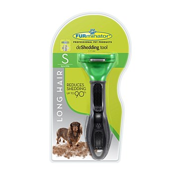 FURminator deShedding tool for Long Hair Small Dogs