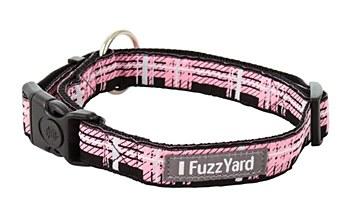 FuzzYard Dog Collar Pink Fling Large