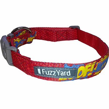 FuzzYard Dog Collar Woof Medium