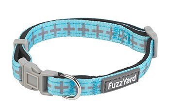 FuzzYard Dog Collar Saint Yeezy Blue Extra Small