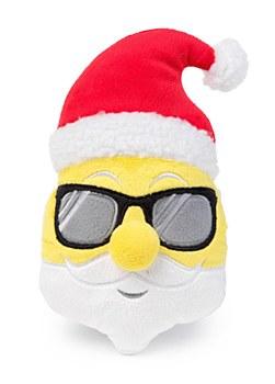 FuzzYard Emoji Santa Plush Christmas Dog Toy