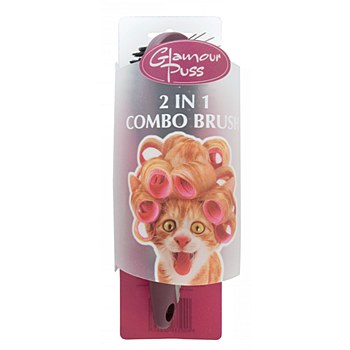 Trouble & Trix Glamour Puss Cat 2 in 1 Combo Brush