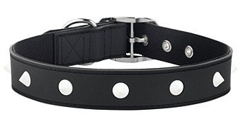 Gummi Dog Collar Spike Large Black