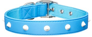 Gummi Dog Collar Spike Large Blue