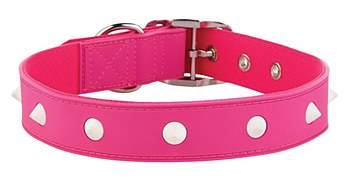 Gummi Dog Collar Spike Large Pink