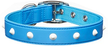 Gummi Dog Collar Spike Medium Blue