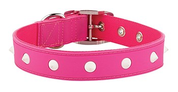 Gummi Dog Collar Spike Medium Pink