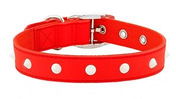 Gummi Dog Collar Spike Medium Red