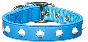 Gummi Dog Collar Spike Puppy Blue