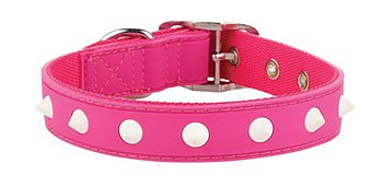 Gummi Dog Collar Spike Puppy Pink