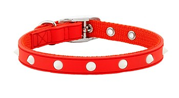 Gummi Dog Collar Spike Puppy Red