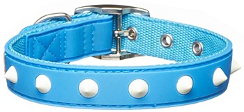 Gummi Dog Collar Spike Small Blue