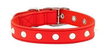 Gummi Dog Collar Spike Small Red