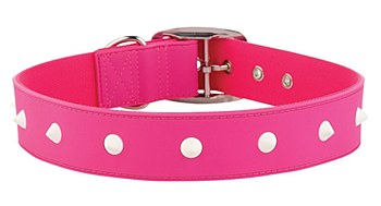 Gummi Dog Collar Spike Extra Large Pink