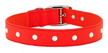 Gummi Dog Collar Spike Extra Large Red