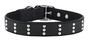 Gummi Dog Collar Stud Large Black
