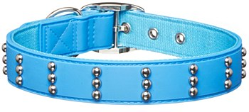 Gummi Dog Collar Stud Large Blue