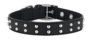 Gummi Dog Collar Stud Medium Black