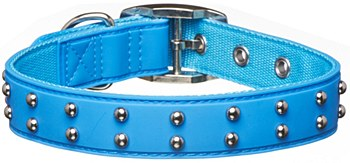 Gummi Dog Collar Stud Medium Blue
