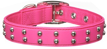 Gummi Dog Collar Stud Medium Pink