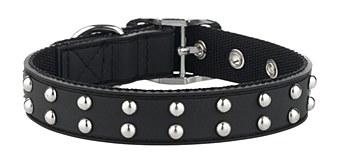 Gummi Dog Collar Stud for Puppies Black