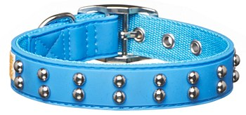 Gummi Dog Collar Stud for Puppies Blue