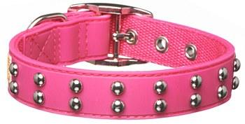 Gummi Dog Collar Stud for Puppies Pink