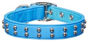 Gummi Dog Collar Stud Small Blue