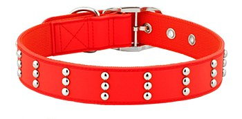Gummi Dog Collar Stud Extra Large Red
