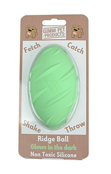 Gummi Ridge Ball Green Dog Toy