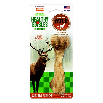 Nylabone Natural Healthy Edibles Bone with Real Venison Chew Treat