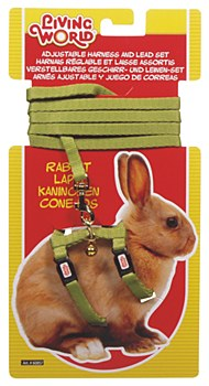 Living World Harness and Lead Set for Rabbits Green