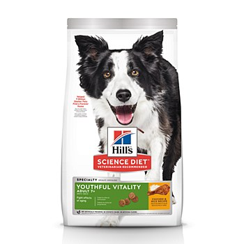 Hill's Science Diet Canine Adult 7+ Youthful Vitality Chicken & Rice 5.6kg Dry Dog Food