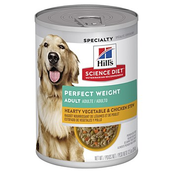 Hill's Science Diet Adult Perfect Weight Chicken & Vegetable Entree 363g Wet Dog Food