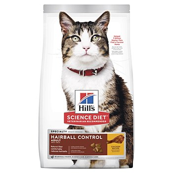 Hill's Science Diet Feline Hairball Control 4kg Dry Cat Food