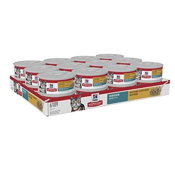 Hill's Science Diet Adult Indoor Savory Chicken Entree 24x156g Wet Cat Food