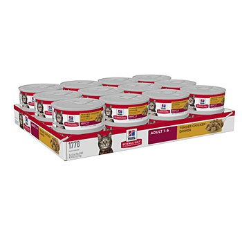 Hill's Science Diet Adult Tender Chicken Dinner 24x156g Wet Cat Food
