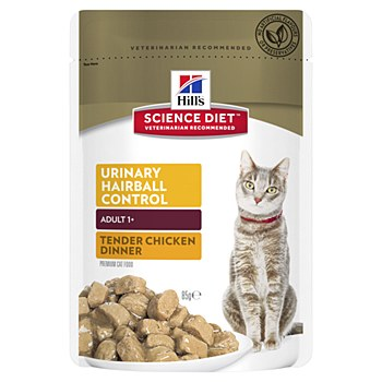 Hill's Science Diet Adult Urinary Hairball Control Chicken 85g Pouch Wet Cat Food