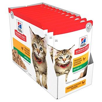 Hill's Science Diet Kitten Healthy Development Chicken 12x85g Pouches Wet Cat Food