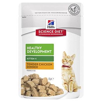 Hill's Science Diet Kitten Healthy Development Chicken 85g Pouch Wet Cat Food