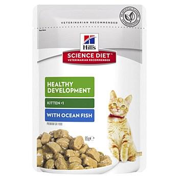 Hill's Science Diet Kitten Healthy Development Ocean Fish 85g Pouch Wet Cat Food