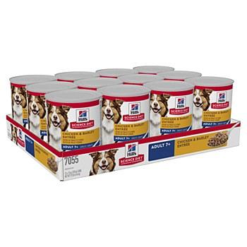 Hill's Science Diet Senior Chicken & Barley Entree 370g X 12 Wet Dog Food
