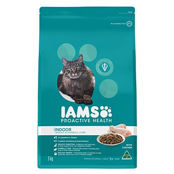 Iams Indoor Weight & Hairball Care with Chicken 3kg Dry Cat Food