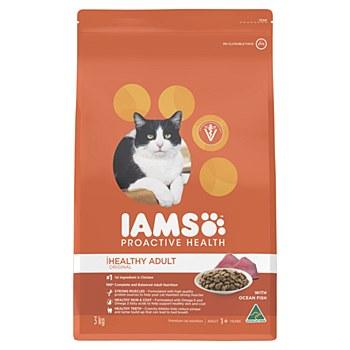 Iams Indoor Healthy Adult with Ocean Fish 3kg Dry Cat Food
