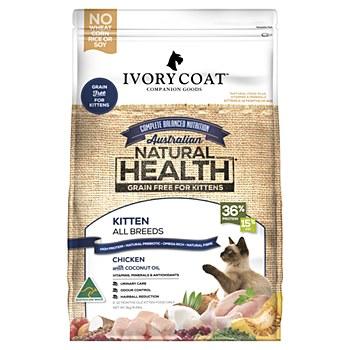 Ivory Coat Grain Free Chicken Kitten 3kg Dry Cat Food