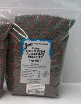 Jens Thrive Gold Fish Floating Pellets 2mm 1kg Fish Food